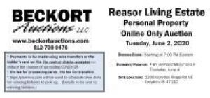 Reasor Living Estate Personal Property Online Only Auction