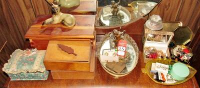 Vintage Dresser Items & Costume Jewelry
