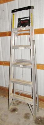 Keller No. 926 Six Foot Aluminum Stepladder