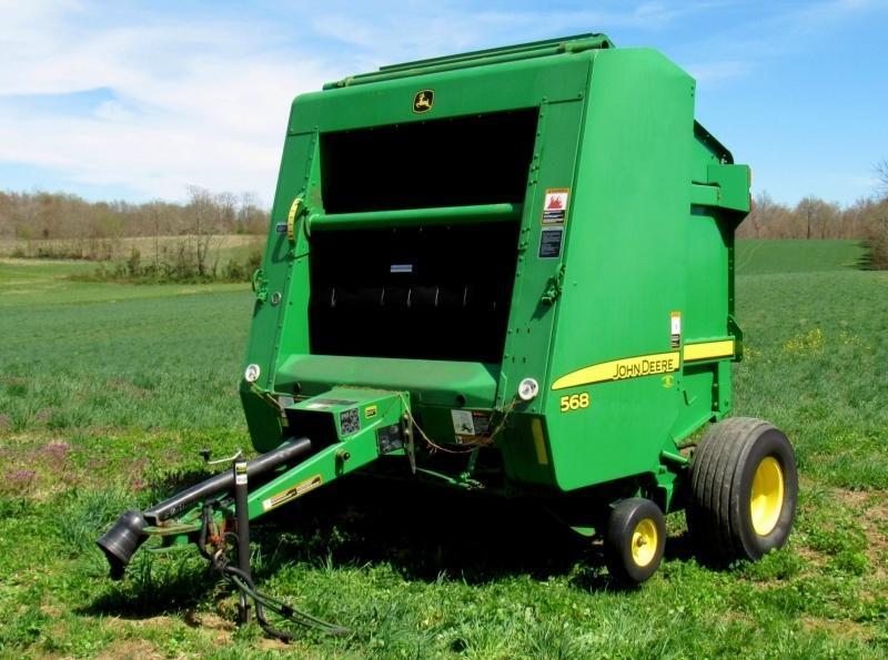 John Deere 568 Round Hay Baler - Current price: $9500