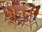 Tell City Chair Co. Dining Table & Chairs