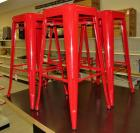 Red Steel Bar Stools