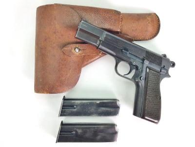 Belgium Browning Hi-Power 9mm Pistol