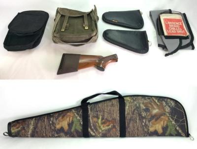 Assortment of Ammo Bags, Holsters and Soft Gun Case
