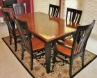 Havertys Two-tone Dining Room Table & Chairs Set