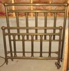 Antique Brass Bed & Coat Rack