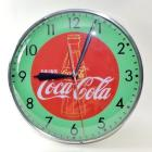 1940's-50's Drink Coca-Cola with Bottle Outlined in Green Redball Lighted Clock