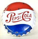 1950's Pepsi Cola Embossed SSP Sign