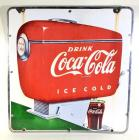 "1940's ""Drink Coca-Cola Ice Cold"" DSP Sign"