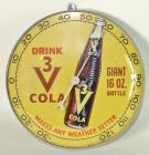 """Drink 3V Cola Giant Bottle"" Round Thermometer"