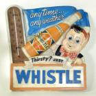 1930's-40's Whistle Soda Chalk Thermometer