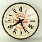 """Delicious Refreshing Drink Coca-Cola"" 5 cents Round Steel Clock"