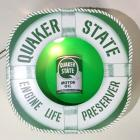"Quaker State ""Engine Life Preserver"" Lighted Counter Sign"