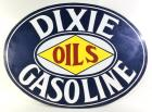 """Dixie Gasoline Oils"" DST Oval Sign"