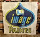 "Vintage 1975 ""S&T Stores Image Paints"" SST Sign"