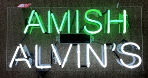 """Amish Alvin's"" Neon Sign"