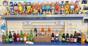 Vintage Soaky Bottles/Figures and Soda Fountain Display Items