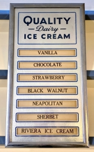 "Vintage ""Quality Dairy Ice Cream"" Flavors Sign"