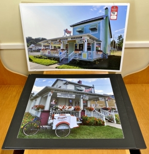Emery's Ice Cream Photographs Mounted on Boards