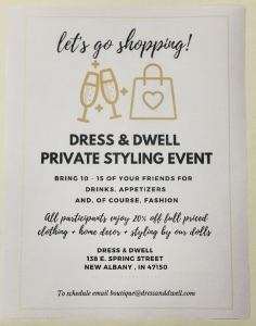 Private Styling Event at Dress and Dwell