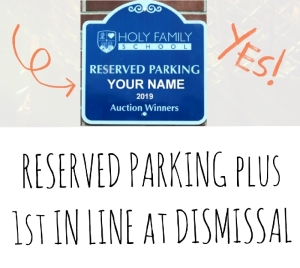 Reserved Parking for the 2020-2021 School Year