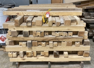 Pallet of 4'L Stacking Timbers