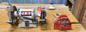 JET Bench Grinder & Woodworking Vise