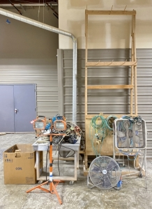 Hose Reels, Air Hose, Fans, & Shop Light
