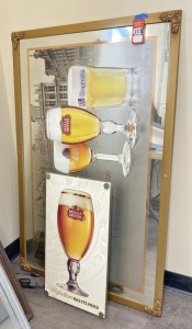 Stella Artois Beer Mirror & Sign