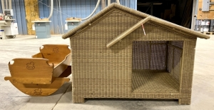 Resin Wicker Indoor Dog House
