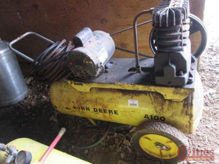John Deere Air Compressor >> John Deere A100 Portable Air Compressor With 1hp Electric Motor