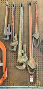 Ridgid and Toledo Pipe Wrenches