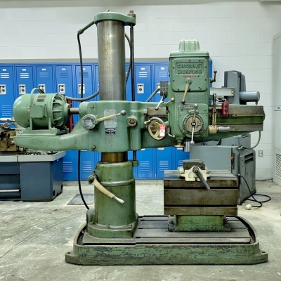 Cincinnati Bickford Radial Drill & Shop Cabinet
