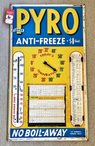 "Vintage ""Super Pyro Anti-freeze"" Advertising Thermometer"