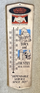 """United Farm Agency"" Advertising Thermometer"