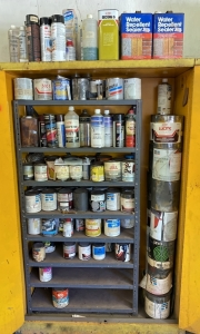 Large Amount of Paint Related Liquids
