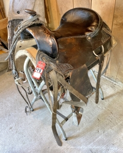 Modern Leather Horse Saddle and Accessories