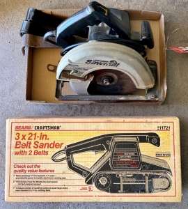 Craftsman Belt Sander and Circular Saw