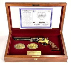 "Uberti Colt 1851 Navy ""The Civil War Sesquicentennial"" Tribute Black Powder Revolver"