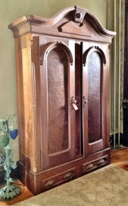 Early Walnut Knockdown Wardrobe