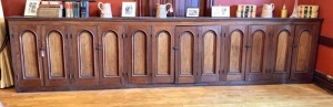 Early Chestnut? 12-Door Bar/Store Back Cabinet