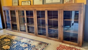 Antique 12' 7-Door Glass Cupboard