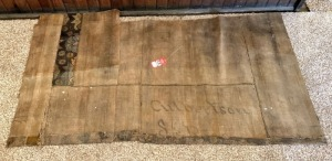 "1800's Era Rug Hand Painted ""Culbertson S R"""