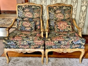 Vintage Armed Upholstered Chairs
