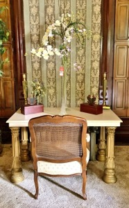 Vintage Chair & Desk with Decorative Items