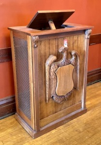Early Hand-Carved Eagle Fronted Lectern