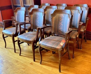Wooden Armed Matching Chairs