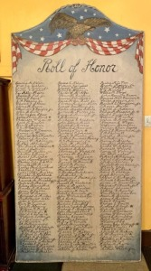 "Early Hand-Painted US Military ""Roll of Honor"" Board"