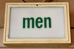 "Vintage Lighted ""Men"" & ""Women"" Restroom Signs"