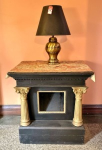 Greek Style Display Table & Lamp